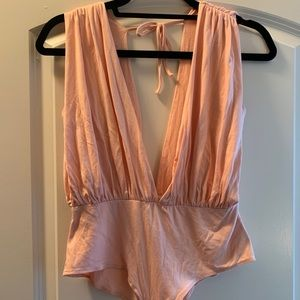 Blush pink body suit